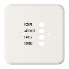 Abdeckplatte,1x1,86x86,weiss Standard,französisch für Türstation