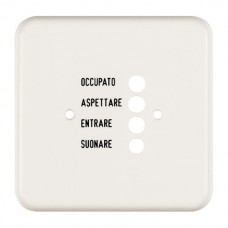 Abdeckplatte,1x1,86x86,weiss Standard,italienisch für Türstation