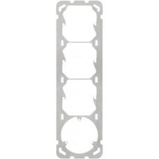 Befestigungsplatte 4x1 Hager 257x77mm für 3x52mm/3xT13