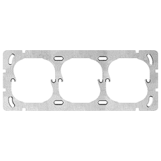 Befestigungsplatte 3-teilig 3x1 3x52mm Waagrecht, Apparatedistanz 60 mm