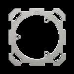 Befestigungsplatte,1x1,Feller 77x77mm, für Dreifach-Steckdose T13