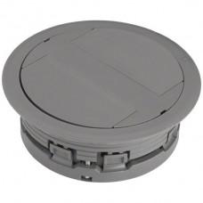 Bodendose HA Ø132mm für Kabelkanal flexibel H>20mm grau
