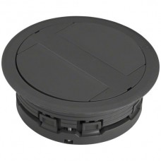 Bodendose HA Ø132mm für Kabelkanal flexibel H>20mm schwarz