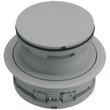 Bodendose HA Ø132mm mit Tubus H>20mm hellgrau