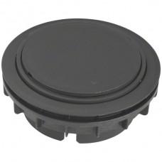 Bodendose HA Ø132mm mit Tubus H<20mm schwarz