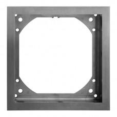 Rahmen,Feller,zu Bodendose Chromstahl geschliffen