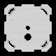 Befestigungsplatte 1-teilig 1 x 1 Feller Gr.I f.1262 77x77mm Sonnerie