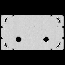 Befestigungsplatte 2-teilig 1 x 2 Feller Ausschnitt für 2x Sonnerie-Drucktaster