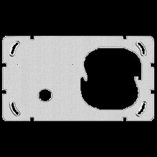 Befestigungsplatte 2-teilig 1 x 2 Feller Ausschnitt für 1x Sonnerie-Drucktaster 1262 links