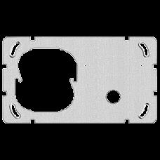Befestigungsplatte 2-teilig 1 x 2 Feller Ausschnitt für 1x Sonnerie-Drucktaster 1262