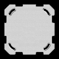 Befestigungsplatte 1-teilig 1 x 1 Feller ohne Ausschnitt 77x77mm