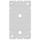 Befestigungsplatte 2-teilig 2 x 1 Feller 2x Sonnerie-Drucktaster