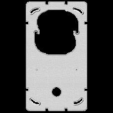 Befestigungsplatte 2-teilig 2 x 1 Feller Sonnerie + Drucktaster 1262 •  137 x 77 mm