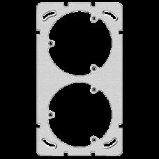 Befestigungsplatte,2x1,Feller 137x77mm,für 2x(3xT13),Dist.64mm