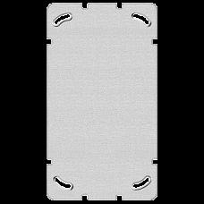 Befestigungsplatte 2-teilig 2 x 1 Feller ohne Ausschnitt 77x137mm
