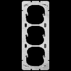 Befestigungsplatte 3-teilig 3x1 3x52mm Senkrecht Apparatedistanz 60 mm
