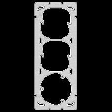 Befestigungsplatte 3-teilig 3x1 Feller Gr.I-I-I 77x197mm Achsdistanz 60/60mm