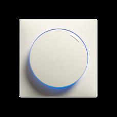 Drehdimmer,beleuchtet,LED-Universal,Einsatz,EDIZIOdue,4-200,weiss,LED blau