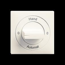 Einsatz-Drehschalter EDIZIOdue 2/1L KS 0-Hand-0-Automat mit Drehgriff