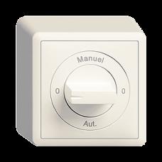 AP-Drehschalter EDIZIOdue 2/1L mit Drehgriff 0-Manuel-0-Aut