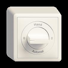 AP-Drehschalter EDIZIOdue 2/1L mit Drehgriff 0-Hand-0-Automat
