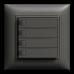 UP-Universaltaster 4x1 für Schraubklemmen EDIZIOdue ohne LED,FMI