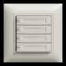 UP-Universaltaster 4x1 für Schraubklemmen EDIZIOdue mit Papiereinlage und LED,FMI