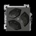 AP-Steckdose 3xT13/3 weiss Einsatz EDIZIOdue 10A FX