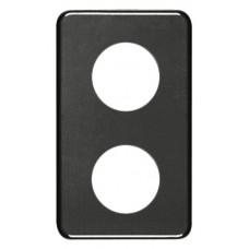 Abdeckplatte,2x1,146x86, schwarz 2xØ43mm