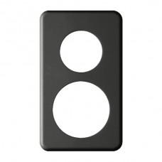 Abdeckplatte,2x1,146x86, schwarz Ø43+58mm