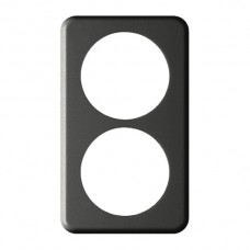 Abdeckplatte,2x1,146x86, schwarz 2xØ58mm,Achsdist.64mm