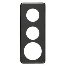 Abdeckplatte,3x1,206x86, schwarz Ø43+43+58mm
