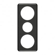 Abdeckplatte,3x1,206x86, schwarz Ø58+43+58mm