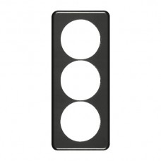 Abdeckplatte,3x1,206x86, schwarz 3xØ58mm,Achsdist.60/60mm