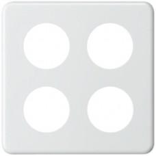 Abdeckplatte,2x2,146x146,weiss 4xØ43mm