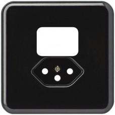 Abdeckplatte,1x1,86x86,schwarz basico,shutter,für Kombi I/T13