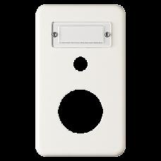 Abdeckplatte 2x1 146x86 weiss Feller Standard Sonnerie+Ø43mm