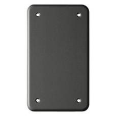 Abdeckplatte,2x1,146x86, schwarz 4 Eck-Befestigungslöcher