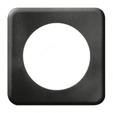 Abdeckplatte,1x1,86x86,schwarz Ø58mm