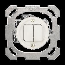 UP-Druckschalter 1/3+3/1L  weiss Standard 16A Ø43 ohne Abdeckplatte PM
