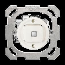 UP-Leucht-Druckschalter 3/1L weiss Standard 16A LS Frontlinse LED gelb PM