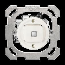 UP-Leucht-Druckschalter 3/1L weiss Standard 16A KS Frontlinse LED gelb PM