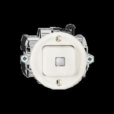 Leucht-Druckschalter,3/1L,LS,weiss Standard,16A, Frontlinse,LED gelb P
