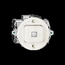 Leucht-Drucktaster,A-R/1L,K,weiss Standard,16A,Frontlinse,LED gelb P