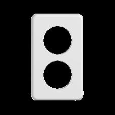 Abdeckplatte STANDARDdue 2×1 weiss 2×53mm