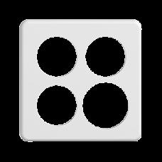 Abdeckplatte STANDARDdue 2×2,3×53mm,1×60mm