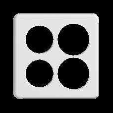 Abdeckplatte STANDARDdue 2×2,2×Ø50mm,2×Ø58mm