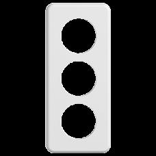 Abdeckplatte STANDARDdue 3×1 weiss 3×53mm