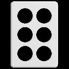 Abdeckplatte STANDARDdue 3×2 weiss 6×53mm