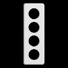 Abdeckplatte STANDARDdue 4×1 weiss 4×53mm